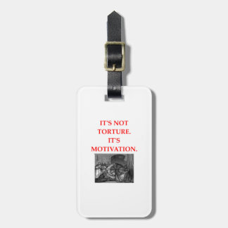 TORTURE LUGGAGE TAG