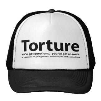 Torture - nous avons des questions, vous avons des casquette de camionneur