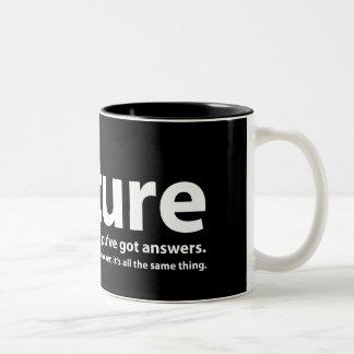 Torture - nous avons des questions, vous avons des mug bicolore