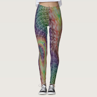 Tortured souls abstract leggings