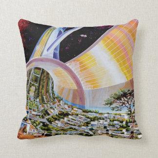 Torus Space Habitat Artist Concept Pillow