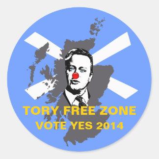 Tory Free Zone Scottish Independence Sticker