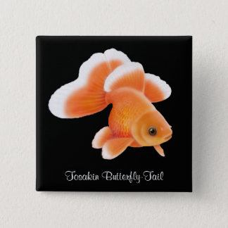Tosakin Butterfly Tail Goldfish 2 Inch Square Button