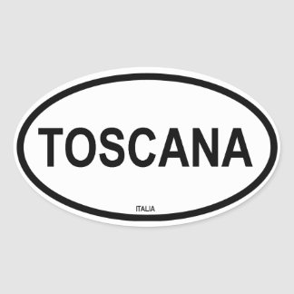 TOSCANA OVAL STICKER