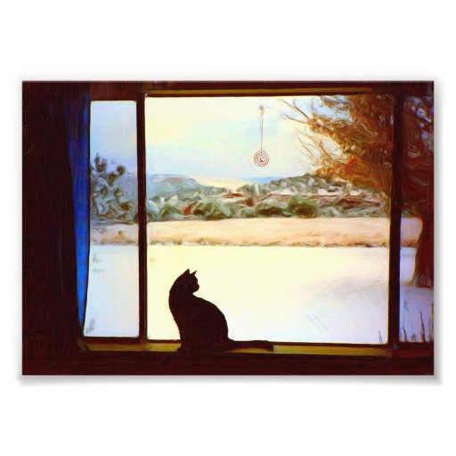 Tosca's Winter Window Photographic Print