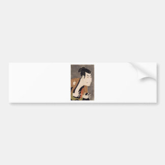 Toshusai_Sharaku Bumper Sticker