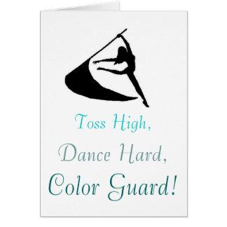 Toss High, Dance Hard, Color Guard Card