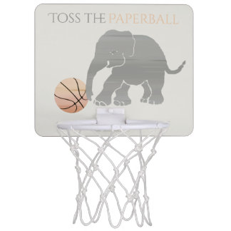Toss the Paperball Elephant Playing Basketball Mini Basketball Hoop