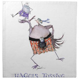 tossing the haggis napkin