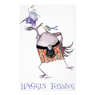 tossing the haggis stationery