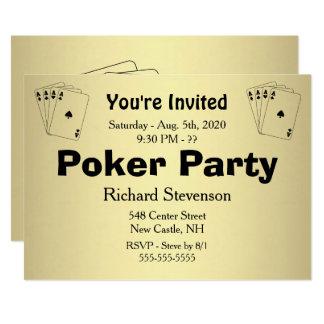 Total Custom Text Poker Party Invitation