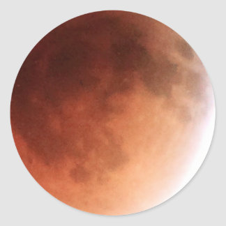 Total Lunar Eclipse (14) 1:07am April 15, 2014 Classic Round Sticker
