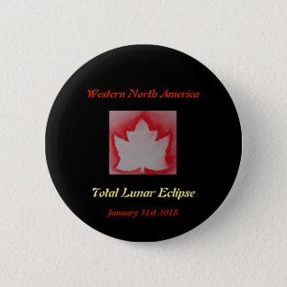 Total Lunar Eclipse 2018 2 Inch Round Button