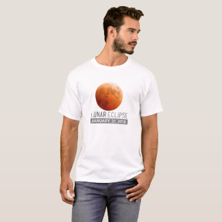 Total Lunar Eclipse 2018 31st January Gift Apparel T-Shirt