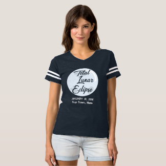 Total Lunar Eclipse 2018 Personalized Town T-Shirt