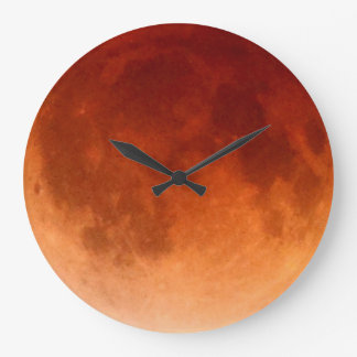 Total Lunar Eclipse Blood Moon Clock
