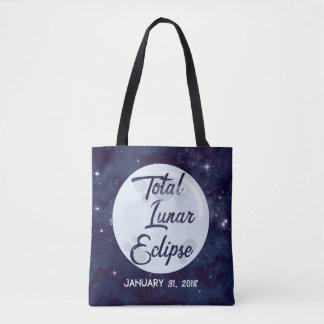 Total Lunar Eclipse Personalized Tote