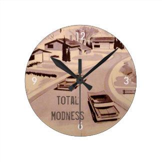 Total Modness! Retro Modern Round Clock