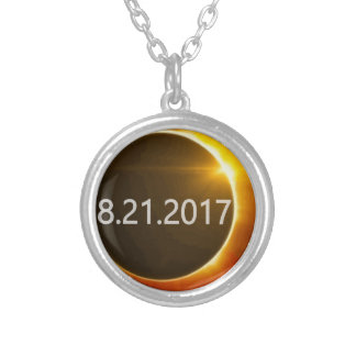 Total-Solar-Eclipse2 Silver Plated Necklace