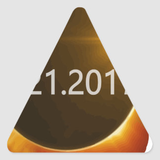 Total-Solar-Eclipse2 Triangle Sticker