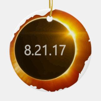 Total-Solar-Eclipse3 Ceramic Ornament