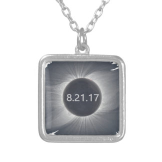 Total-Solar-Eclipse6 Silver Plated Necklace