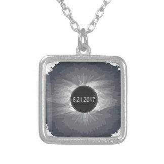 Total-Solar-Eclipse9 Silver Plated Necklace
