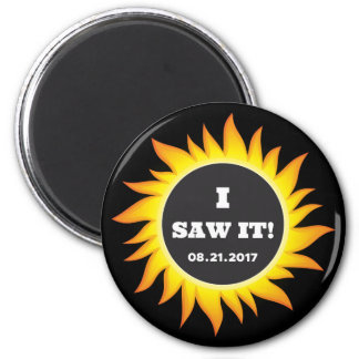 Total Solar Eclipse - 08.21.2017 2 Inch Round Magnet