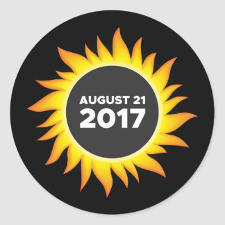 Total Solar Eclipse - 08.21.2017 Classic Round Sticker