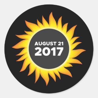 Total Solar Eclipse - 08.21.2017 Round Sticker