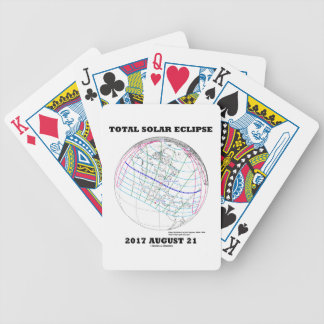 Total Solar Eclipse 2017 August 21 North America Bicycle Playing Cards