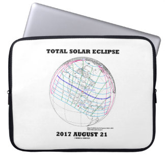 Total Solar Eclipse 2017 August 21 North America Laptop Sleeve