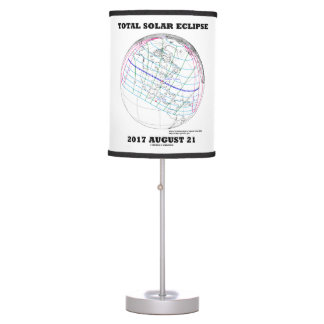 Total Solar Eclipse 2017 August 21 North America Table Lamp