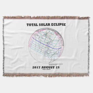 Total Solar Eclipse 2017 August 21 North America Throw Blanket