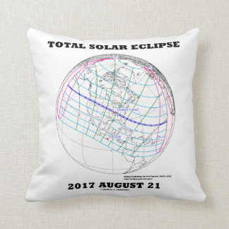 Total Solar Eclipse 2017 August 21 North America Throw Pillow