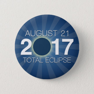 Total Solar Eclipse 2017 - Blue Design 2 Inch Round Button