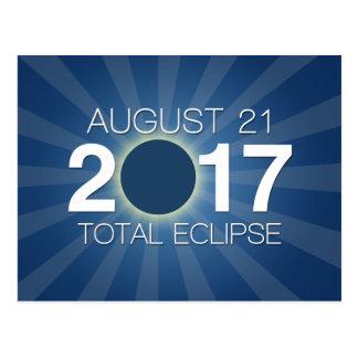 Total Solar Eclipse 2017 - Blue Design Postcard