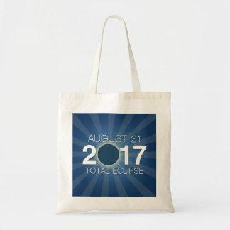 Total Solar Eclipse 2017 - Blue Design Tote Bag