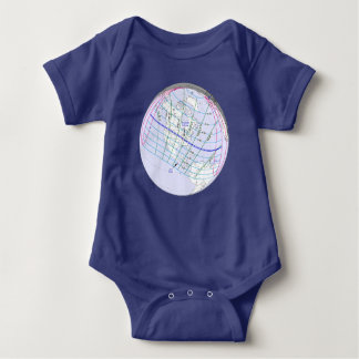 Total Solar Eclipse 2017 Global Path Baby Bodysuit