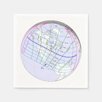 Total Solar Eclipse 2017 Global Path Disposable Napkin