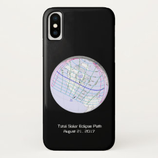 Total Solar Eclipse 2017 Global Path iPhone X Case