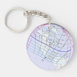Total Solar Eclipse 2017 Global Path Keychain