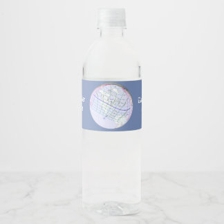 Total Solar Eclipse 2017 Global Path Water Bottle Label