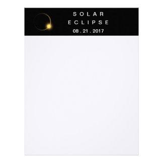 Total Solar Eclipse 2017 Letterhead