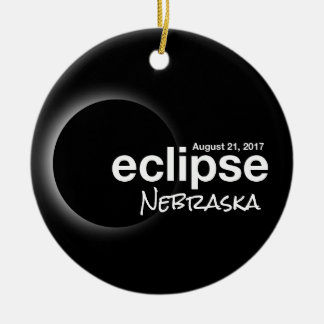 Total Solar Eclipse 2017 - Nebraska Ceramic Ornament