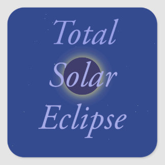 Total Solar Eclipse 2017 Square Sticker