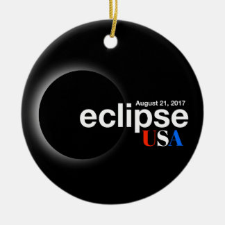 Total Solar Eclipse 2017 - USA Ceramic Ornament