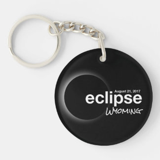 Total Solar Eclipse 2017 - Wyoming Keychain