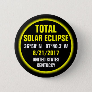 Total Solar Eclipse 8/21/2017 2 Inch Round Button