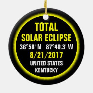 Total Solar Eclipse 8/21/2017 Ceramic Ornament